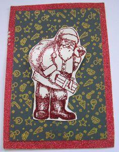 Santa Rubberstamp by YorksLittleArtStudio on Etsy