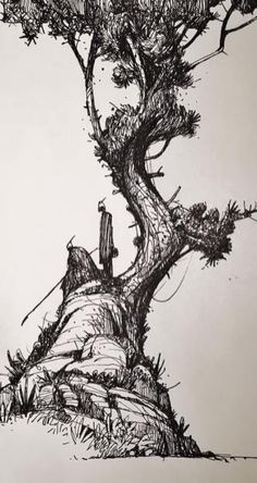 Landscape drawing pencil outlines pen and ink 43 ideas for # pencil # pen . - Landscape drawing pencil outlines pen and ink 43 ideas for - Tree Pencil Sketch, Pen Sketch, Art Sketches, Pencil Sketching, Sketch Pad, Sketch Drawing, Drawing Ideas, Landscape Sketch, Landscape Drawings