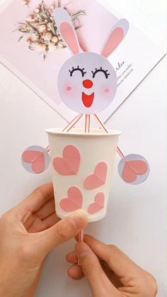 Masks Diy - New ideas Paper Crafts Origami, Paper Crafts For Kids, Diy For Kids, Arts And Crafts, Paper Cup Crafts, Diy Paper, Easy Diy Crafts, Craft Stick Crafts, Preschool Crafts