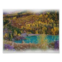 Turquoise Lake Poster