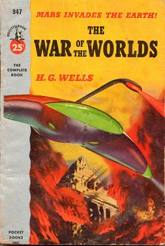 """ The War of the Worlds"" - H.G. Welles (Pocket Book Movie Tie-In Paperback, 1953)"
