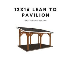 Shelter Plan/Shelter Pavilion plan/patio shelter plan/roofed   Etsy Lean To Carport, Lean To Roof, Carport Plans, Shed Plans, Diy Carport, Carport Ideas, Carport Designs, Porch Designs, Bench Plans