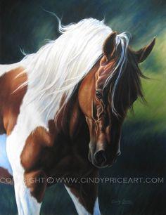 Painted Beauty - Paint Horse print of original pastel painting. $27.99, via Etsy.