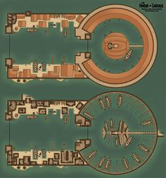 Map of the Kothoa - The Dual Harbor of Ancient Carthage : battlemaps Fantasy City, Fantasy Map, City Layout, Minecraft Blueprints, Dungeons And Dragons Homebrew, Dungeon Maps, Roman History, Environment Concept Art, Map Design