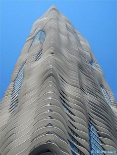 Aqua is an 82 story residential skyscraper in Chicago, Illinois.  It was designed by a team led by Jeanne Gang and is the worlds tallest building to have a woman as it's lead architect.