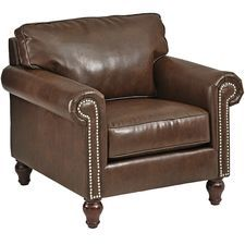 Alton Tobacco Brown Rolled Armchair