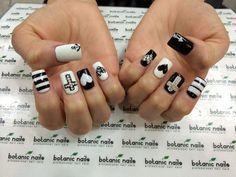 40 black and white nail art