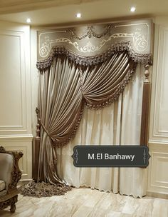 beautiful in 2019 Fancy Curtains, Classic Curtains, Luxury Curtains, Elegant Curtains, Beautiful Curtains, Modern Curtains, Living Room Decor Curtains, Home Curtains, Curtain Designs For Bedroom