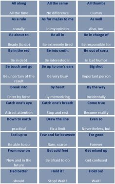 The most frequent collocations in spoken English