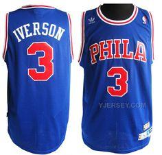 http://www.yjersey.com/nba-sixers-3-allen-iverson-blue-jerseys.html Only$34.00 #NBA SIXERS 3 ALLEN IVERSON BLUE JERSEYS Free Shipping!