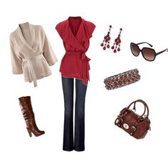 Outfit, created by mercuriopartyof3 on Polyvore    I'm not a read person but this outfit is cute