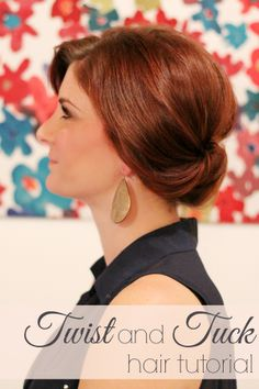Twist and tuck hair tutorial. So simple anyone can do it in under 10 minutes