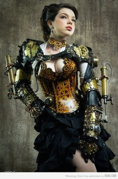 "Sarah Hunter as ""Lady Clankington"". This is one of the most recognizable Steampunk photos in the world!"