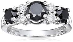 #blackdiamondgem 10k White Gold Black and White Diamond Ring (2 cttw, H-I Color,I2-I3 Clarity), Size 6by Amazon Collection - See more at: http://blackdiamondgemstone.com/jewelry/rings/statement/10k-white-gold-black-and-white-diamond-ring-2-cttw-hi-colori2i3-clarity-size-6-com/#sthash.mumg9iC1.dpuf