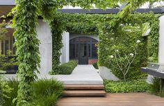 Eckersley Garden Architecture is a boutique landscape design firm in Melbourne that brings a revitalised approach to landscape creation from Rick Eckersley. Sunken Garden, Garden Architecture, Small Space Gardening, Backyard Fences, Garden Landscape Design, Building Exterior, Garden Beds, A Boutique, Backyard Landscaping
