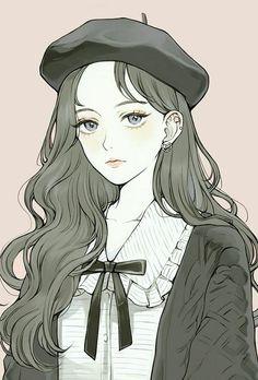New illustration art girl anime draw Ideas Kawaii Anime Girl, Cool Anime Girl, Pretty Anime Girl, Beautiful Anime Girl, Anime Art Girl, Manga Art, Anime Girls, Anime Girl Dress, Aesthetic Art