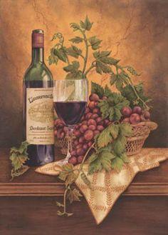Wine And Grape Kitchen Decor Italian Wine Grapes I Kitchen Decor Square Coaster Set of 4 Wine Pics, Grape Kitchen Decor, Wine Painting, Images Vintage, Wine Decor, Decoupage Vintage, Wine Art, Italian Wine, In Vino Veritas