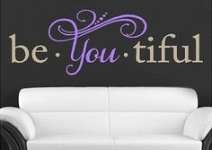 Beautiful Vinyl Lettering wall words quotes by itswritteninvinyl