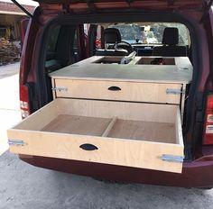 Home-Built Storage/Sleeping System