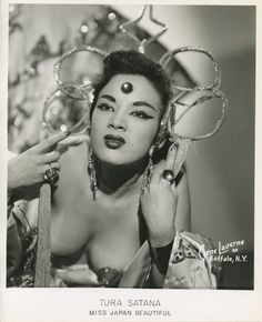 Vintage 8x10 of Tura Satana ~ Miss Japan Beautiful (AKA: Tura Luna Pascual Yamaguchi). Besides being a burlesque dancer, Tura Satana was well know as the star of Russ Meyer movies including Faster Pussycat Kill, Kill!