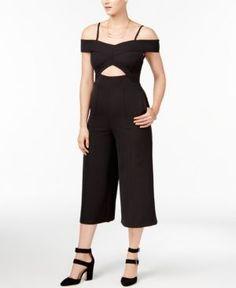 Xoxo Juniors' Cutout Culotte Jumpsuit - Black XXL