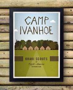 Moonrise Kingdom Poster Camp Ivanhoe original por bestplayever, £10.00