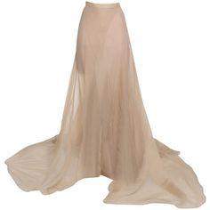 Vionnet Long Skirt (€685) ❤ liked on Polyvore featuring skirts, bottoms, skin colour, zip skirt, long skirts, zipper skirt, ankle length skirt and vionnet