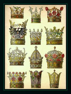 THE 12 CROWNS (Art Nouveau decorative models by A. Seder