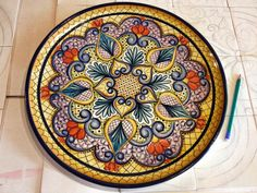 Hand painted ceramic dish - by Atelier Andrea Consentino