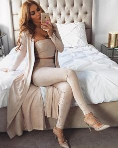 Three piece fashion suede set from Fashion Miami Styles. Saved to Slim THICK. Shop more products from Fashion Miami Styles on Wanelo. Mode Outfits, Fall Outfits, Casual Outfits, Summer Outfits, Fashion Moda, Womens Fashion, Fashion Shoes, Fashion Wear, Looks Chic