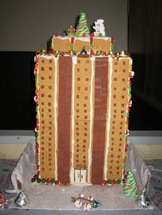 Easy way to make gingerbread houses