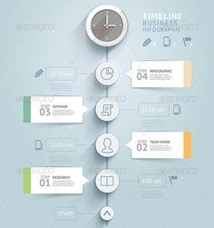 Timeline Infographic Template by graphixmania Timeline infographic template. Can be used for workflow layout, banner, diagram, web design. The ZIP files include : - EPS 10 com Process Infographic, Timeline Infographic, Creative Infographic, Infographic Templates, Web Design, Urban Design, Email Design, Graphic Design, Timeline Design