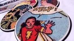 Mod Podged comic book geek coasters 2 -- Could use any picture. I like this new take on the mod podge coaster idea.