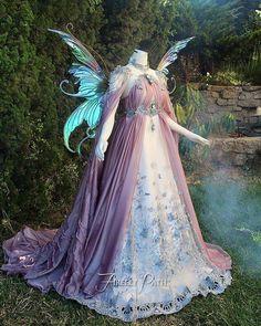 Purple Fairy dress Fairytale Dress, Fairy Dress, Fairytale Weddings, Rustic Weddings, Unique Weddings, Fairytale Costume, Fairy Fancy Dress, Renaissance Fairy Costume, Winter Fairy Costume