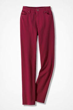 Classic Knit Denim Straight Leg - Women's Denim   Coldwater Creek