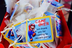 Super Mario Party - Party Favors of coins.