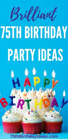 75th Birthday Party Ideas - Themes, Decorations, Centerpieces, Party Favors and more - everything you need to plan a fabulous 75th birthday party!