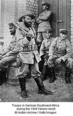 German soldiers in Southwest Africa