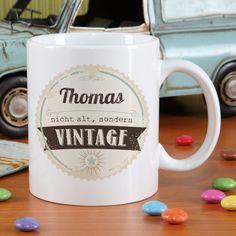 Tasse zum Geburtstag - nicht alt sondern vintage