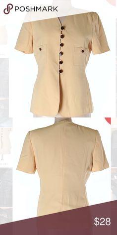 Kasper Yellow Button Down Jacket Blazer Sz 10 P Excellent condition! Thank you for looking! Kasper Jackets & Coats Blazers