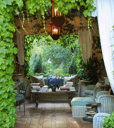 Outdoor reading sanctuary