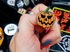 Image of HALLOWEEN: Pumpkin Enamel Pin