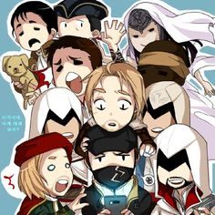 ads ads Assassin's Creed and Watch Dogs art. So cute! Cool Car Drawings, Badass Drawings, Assassins Creed Anime, Cartoon Network, Assasins Cred, Watch Dogs 1, Chibi, Assassin's Creed Brotherhood, Video Game Characters