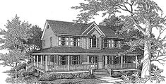 Eplans Farmhouse House Plan - Home On The Farm - 2263 Square Feet and 3 Bedrooms(s) from Eplans - House Plan Code HWEPL58637