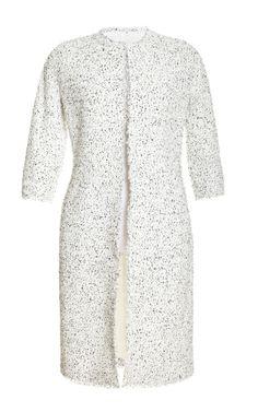 Shop Lightweight Bouclé-Tweed Coat by Giambattista Valli Now Available on Moda Operandi