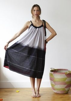 I've made a few of these dresses.  Easy to sew, comfortable to wear.