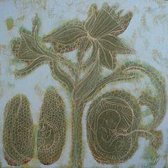 Willemien de Villiers   Groen Geboorte   oil on canvas
