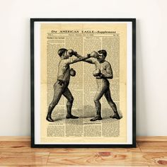 Box Boxing Antique Sport Fight Fighting Printable Collage Old Newspaper A3 Art Print 11x16 Home Decor - DIGITAL DOWNLOAD jpg HQ300dpi by ZikkiArt on Etsy  #hq #Ephemera #diy #old #book #illustration #gravure #decor #digital #collage #scrapbooking #quality  #inspiration #retro #antique #vintage #300dpi #draw #drawing  #black #white #printable #crafts #Newspaper #paper Vintage Newspaper, Newspaper Paper, Sports Fights, Printable Designs, Printable Crafts, North America Map, Copy Print, Dictionary Art, Home And Deco