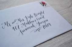 Custom Hand Lettering  Wedding or Event by MagnoliaLetterArts
