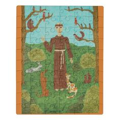 Saint Francis of Assisi Jigsaw Puzzle - cat cats kitten kitty pet love pussy